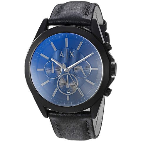 Armani Exchange Leather Chronograph Mens Watch AX2613