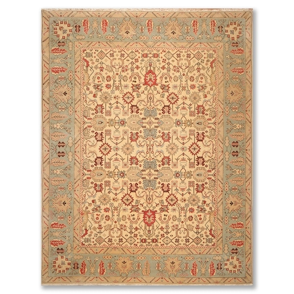Farahan Traditional Hand Knotted Wool Indo-Persian Rug (9'x12') - 9' x 12'