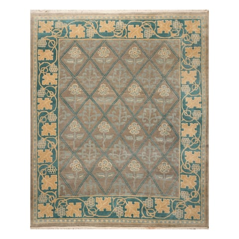 Arts & Crafts Tufenkian Hand Knotted Hand Spun Wool Rug (8'x10') - 8' x 10'