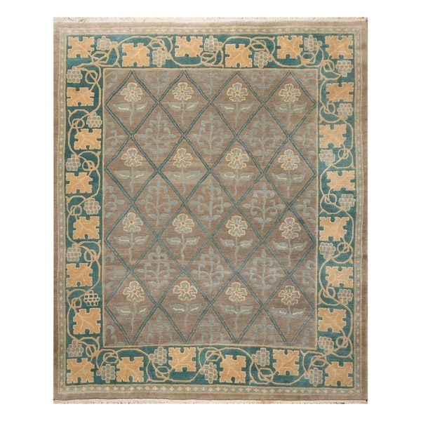 Arts & Crafts Tufenkian Hand Knotted Hand Spun Wool Rug (8'x10') - 8' x 10'. Opens flyout.