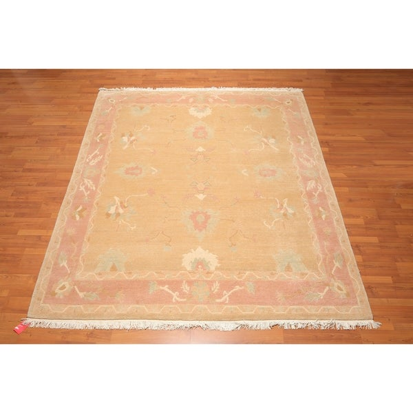 Hand Knotted Arts & Crafts Tufenkian Wool Tibetan Oriental Area Rug (8'x10') - 8' x 10'. Opens flyout.