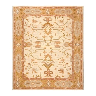 Arts & Crafts Hand Spun Hand Knotted Wool Rug (8'x10') - 8' x 10'