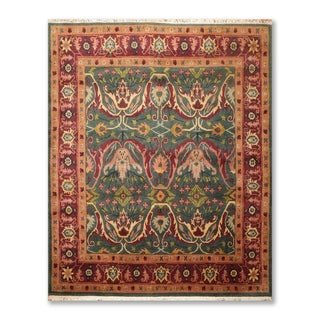 Arts & Crafts Tufenkian Hand Knotted Wool Tibetan Area Rug (8'x10') - 8' x 10'