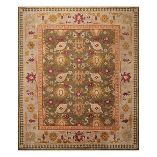 Arts & Crafts Hand Knotted Wool Rug (8'x10') - 8' x 10'