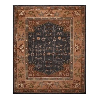 Hand Knotted Wool Arts & Crafts Tibetan Area Rug (8'x10') - 8' x 10'