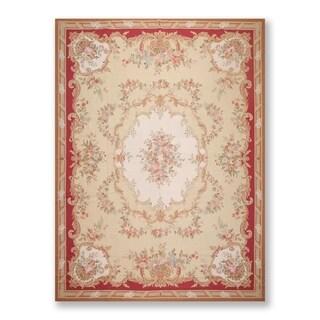 Hand Woven Asmara Wool Needlepoint Area Rug (9'x12') - 9' x 12'