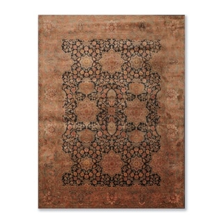 Agra Tea Wash Hand Knotted Wool Oriental Area Rug  (8'x10') - 8' x 10'