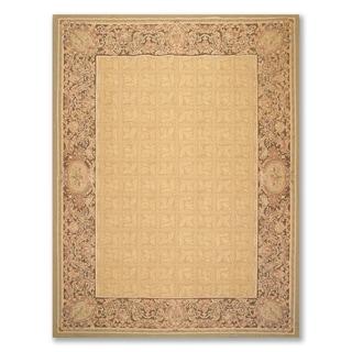"Asmara Hand Woven Wool Aubusson Area Rug   (8'1""x11'6"") - 8'1"" x 11'6"""
