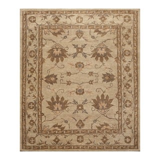Arts & Crafts Tibetan Oriental Area Rug Hand Knotted Wool (8'x10') - 8' x 10'