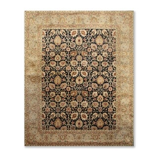 "Agra Tea Wash Hand Knotted Wool  Persian Oriental Area Rug (7'9""x9'8"") - 7'9"" x 9'8"""