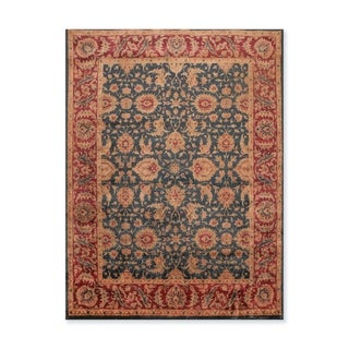 Agra Tea Wash Hand Knotted Wool  Persian Oriental Area Rug (8'x10') - 8' x 10'