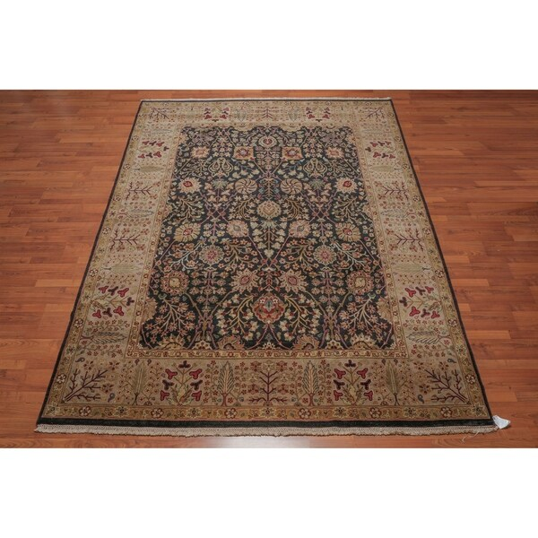 "Pure Wool Agra Hand Knotted Persian Oriental Area Rug (8'2""x10'4"") - 8'2"" x 10'4"""