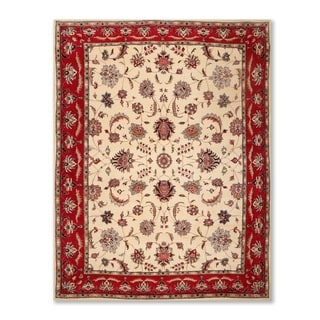 """Isfahan 200 KPSI Hand Knotted Wool Persian Oriental Area Rug (8'x10'6"""") - 8' x 10'6"""""""
