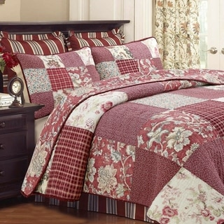 Link to Cozy Line Thalia Real Patchwork 3 Piece Reversible Cotton Quilt Set Similar Items in As Is
