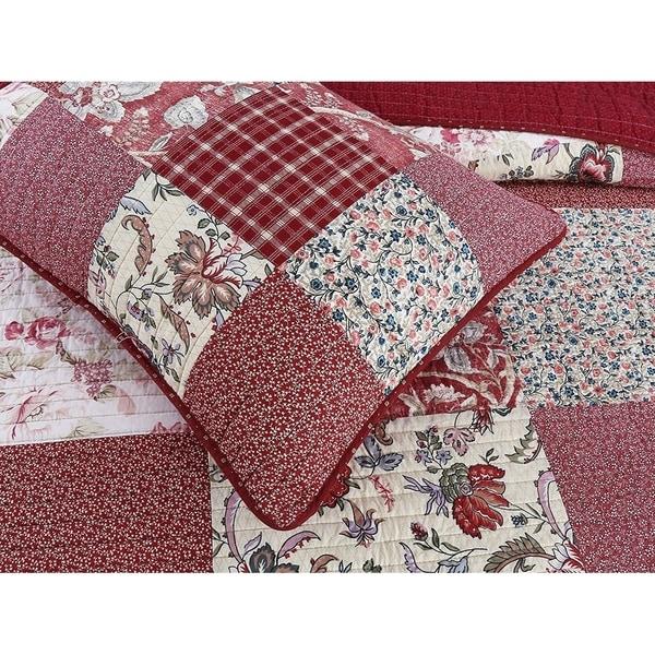 Cozy Line Thalia Real Patchwork 3 Piece Reversible Cotton Quilt Set