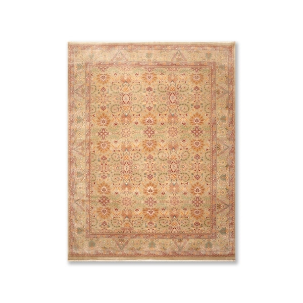 Pure Wool 250 KPSI Hand Knotted Persian Oriental Area Rug (8'x10') - 8' x 10'
