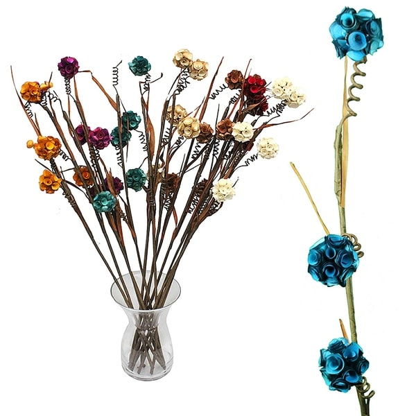 Essential Decor & Beyond Artificial Flower Stem EN70243 - Blue/Yellow - 37 x 3 x 3