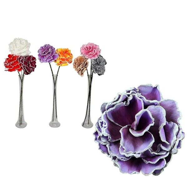 Essential Decor & Beyond 8pc. Artificial Flower Stem EN40708 - Pink/White - 33.86 x 5 x 5
