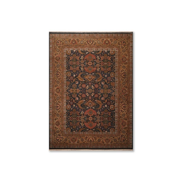 Hand Knotted Wool Indo Persian Oriental Area Rug (9'x12') - 9' x 12'