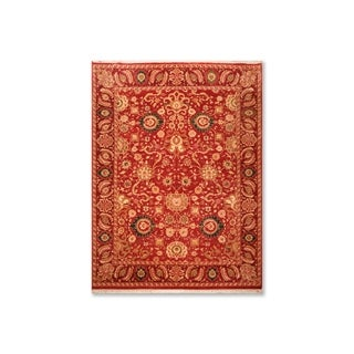 """Hand Knotted Wool  Persian Oriental Area Rug (9'1""""x11'10"""") - 9'1"""" x 11'10"""""""