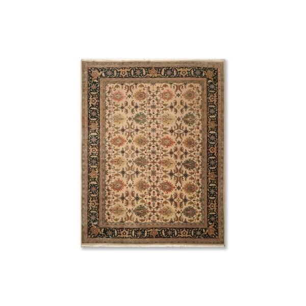 "Indo Tabriz 200 KPSI Hand Knotted Wool Persian Oriental Area Rug (9'x11'10"") - 9' x 11'10"""