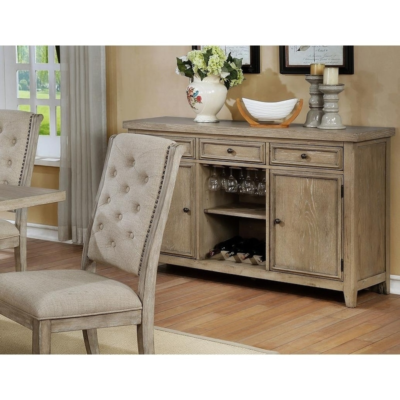 Best Master Furniture  Rustic Natural Serverr