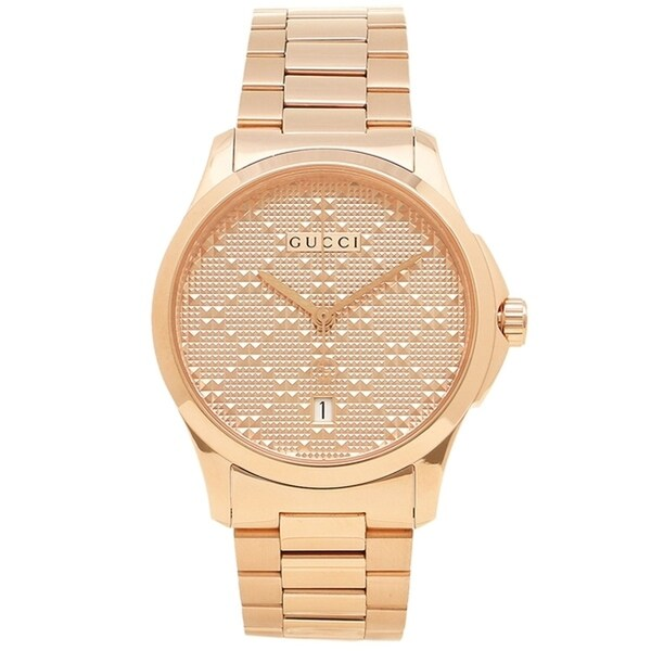 ae4d0d1f557 Gucci YA126482 Men  x27 s G-Timeless Rose Gold Diamond Pattern Quartz Watch