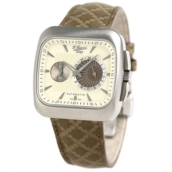 1f3e93901 Shop Gucci YA131307 Men s G-Coupe Ivory Quartz Watch - Free Shipping ...