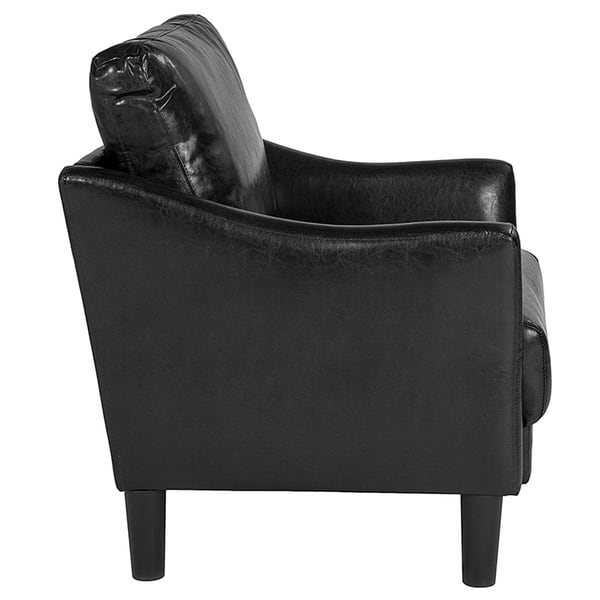 Remarkable Shop Wallabout Modern Black Leather Guest Chair Free Machost Co Dining Chair Design Ideas Machostcouk