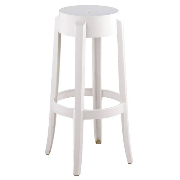 Admirable Snow White Polycarbonate Bar Height Backless Kage Stool 30H Pdpeps Interior Chair Design Pdpepsorg