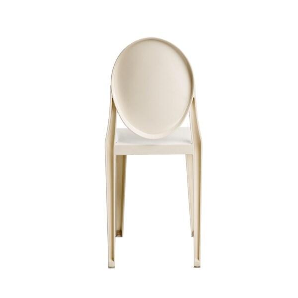 White Armless Kage Polycarbonate Chair