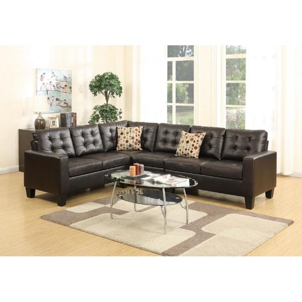 Manor Bonded Leather Modular Sectional Sofa Set