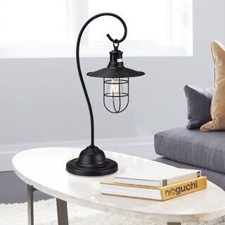 Baskle Black Lantern Table Light