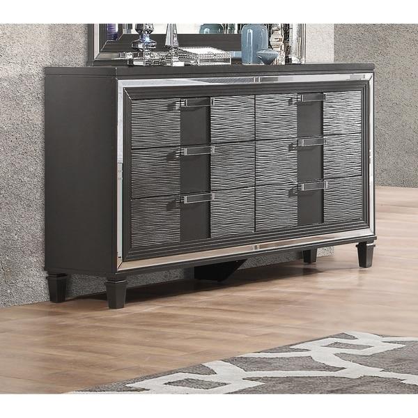 Shop Global Furniture Palermo Metallic Grey Wood Finish