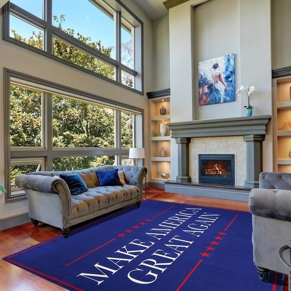 Make America Great Again Non Slip Indoor Outdoor Area Rug Carpet 8 X27