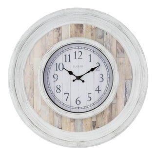 La Crosse Clock 404-3051B 20 Inch Weathered Wood Wall Clock