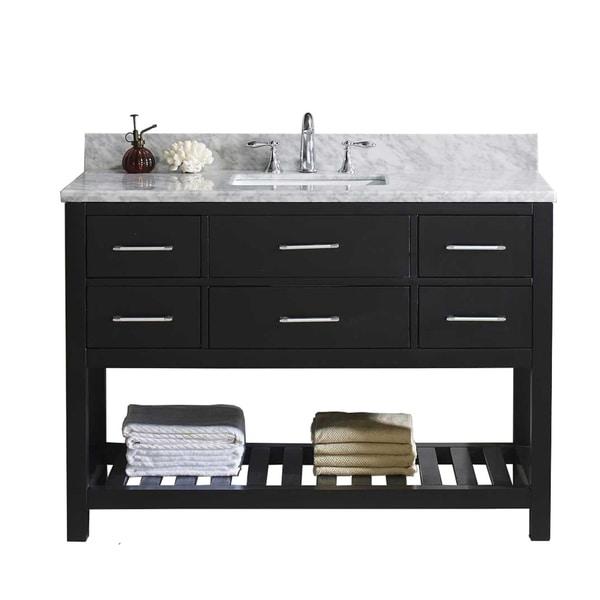 "Caroline Estate 48"" Single Bathroom Vanity Set in Espresso"