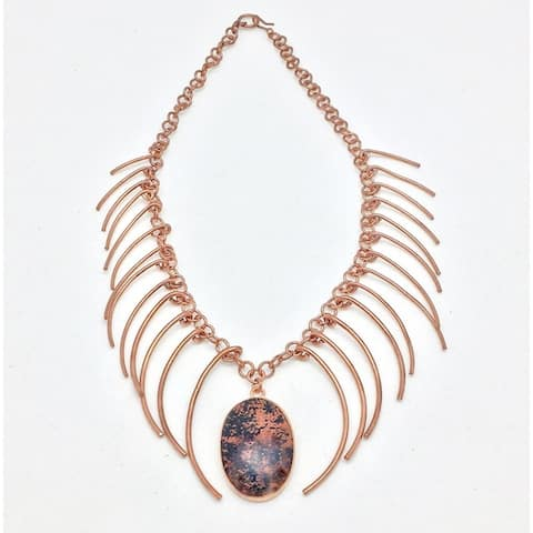 Graduated Dangling Shard Copper Necklace