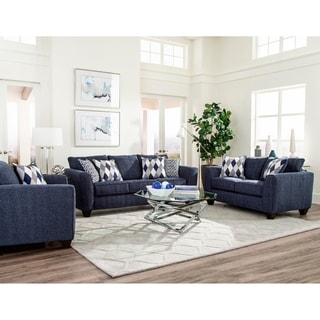 SofaTrendz Frisco Denim Sofa & Loveseat 2-pc Set