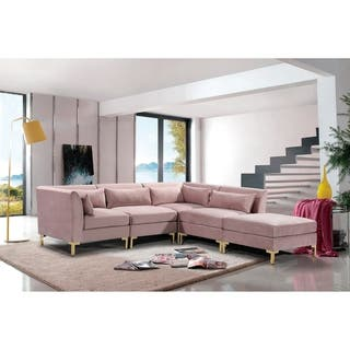 Buy Pink Sectional Sofas Online at Overstock | Our Best ...