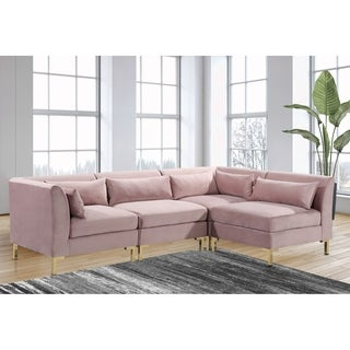 Chic Home Guison Modular Chaise Sectional Sofa with 6 Throw Pillows