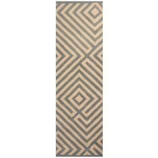 Handmade Tibetan Wool Rug (India) - 2'5 x 8'