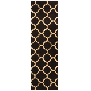 Link to Handmade Trellis Wool Rug (India) - 2'5 x 8' Similar Items in Rugs