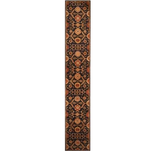 Handmade Herat Oriental Indo Hand-tufted Mahal Wool Rug (2'3 x 14'2) - 2'3 x 14'2