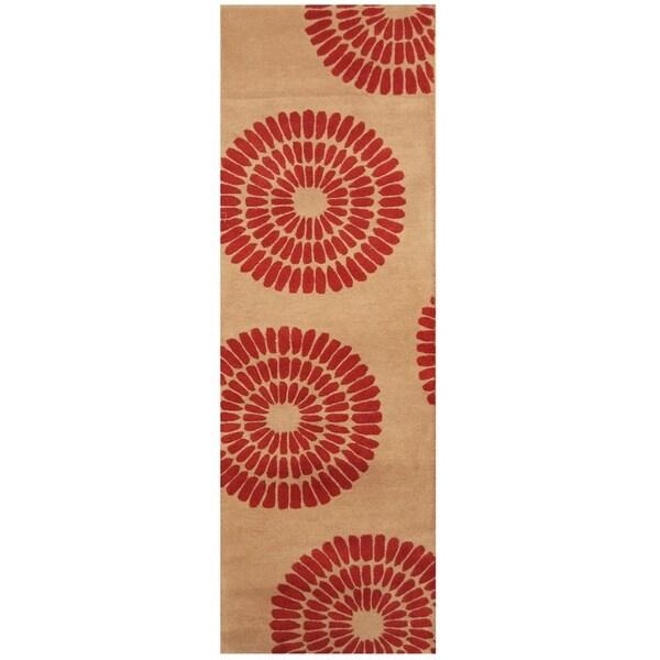 Handmade Tibetan Wool Rug (India) - 2'6 x 7'10