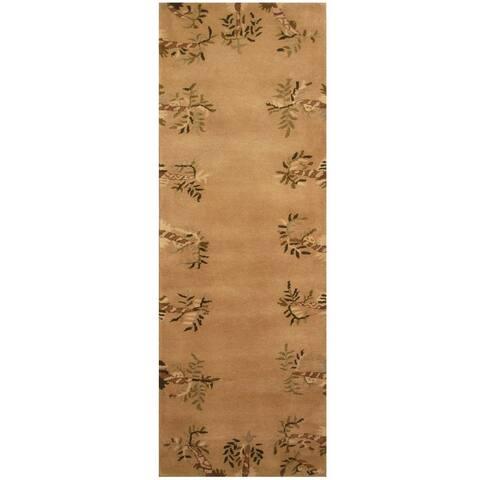 Handmade One-of-a-Kind Tibetan Wool Rug (India) - 2'7 x 7'7