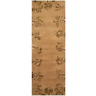 Handmade Tibetan Wool Rug (India) - 2'7 x 7'7