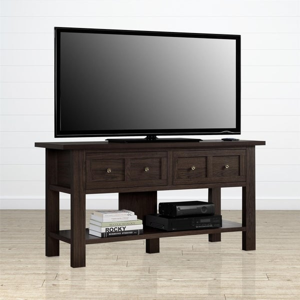 Ameriwood Home Pillars Cherry Apothecary TV Stand for TVs up to 55 inches