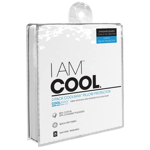 I AM Cool Pillow Protector - Set of 6 - White
