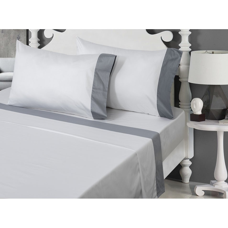 400 Thread Count 100 Egyptian Cotton Bed Sheet Set On Sale Overstock 25559902